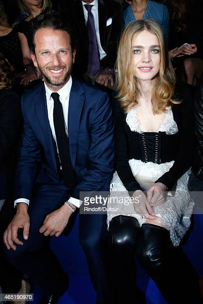 CoManager of Etam Group Laurent Milchior and Model Natalia Vodianova attend the ETAM show as part of the Paris Fashion Week Womenswear Fall/Winter...