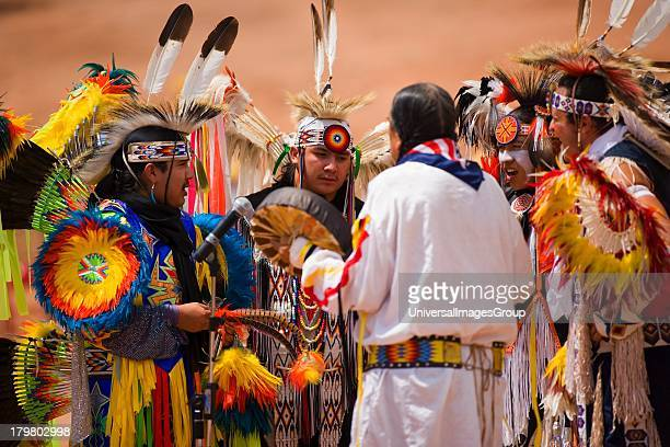 Comanche Indian singers and drummer Gallup InterTribal Indian Ceremonial Gallup New Mexico