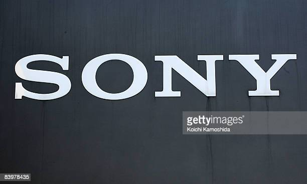 Comany's sign board is displayed at Sony Corporation's headquarters on December 10, 2008 in Tokyo, Japan. Sony announced yesterday to slash 8,000...