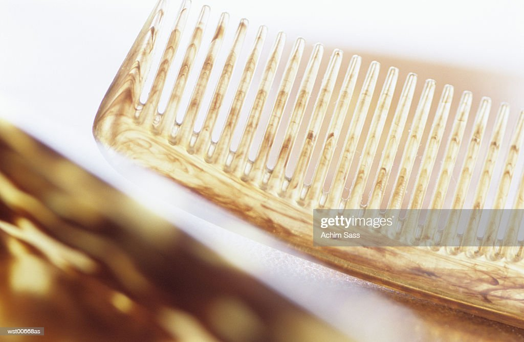 Comb, close up : Stock Photo