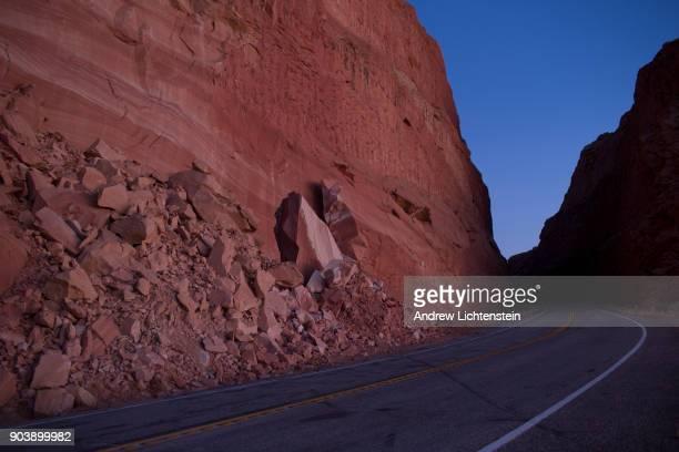 Comb Ridge rises on the horizon in Bear Ears National Monument on December 28 2017 in San Juan County Utah Despite hundreds of ruins and historical...
