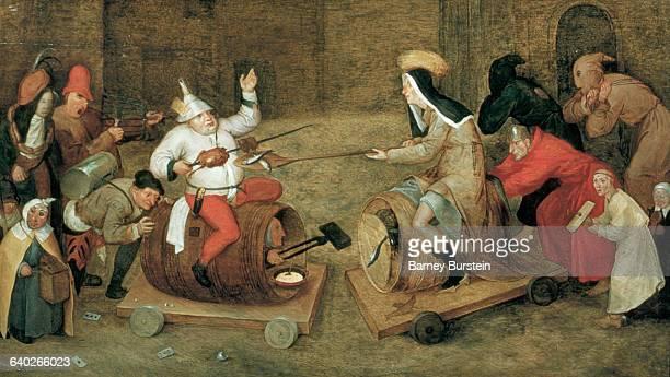 Combat Between Carnival and Lent by Workshop of Pieter Bruegel the Elder