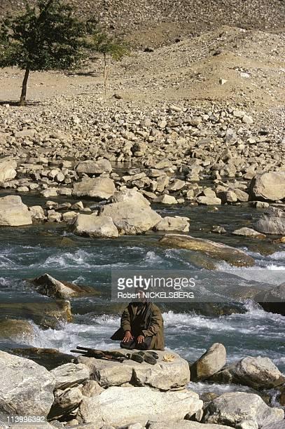 Combat between Taliban and Tajikistan CDT Massoud In Gulbahar, Afghanistan On October 05, 1996-Taleban after Massoud in Panjshir Valley. Taleban Man...
