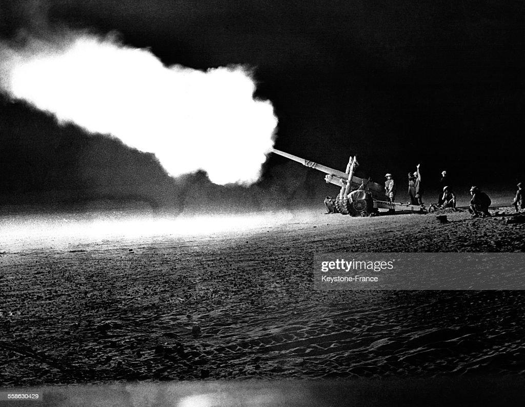 Combat de nuit ? El-Alamein, Egypte en 1942.