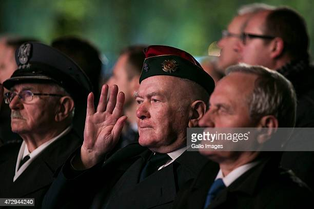 Combatant attends the 70th anniversary celebration of the end of the Second World War on May 8 2015 at Westerplatte in Gdansk Poland It was the...