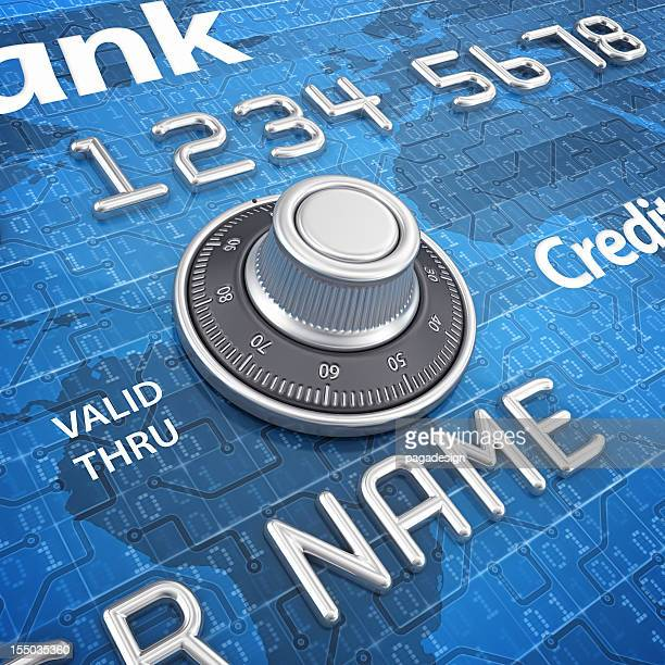 combination lock on credit card