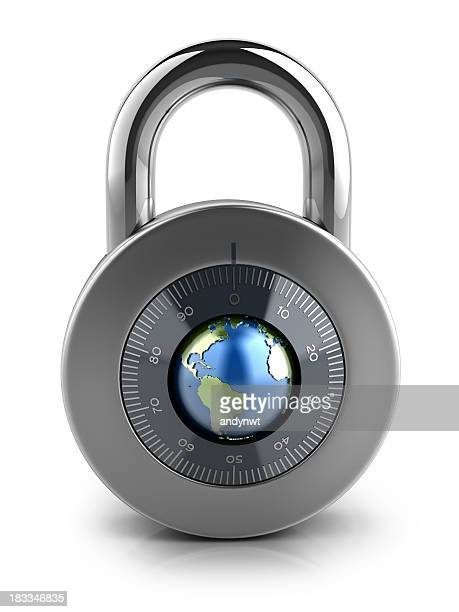 Combination Lock with globe dial