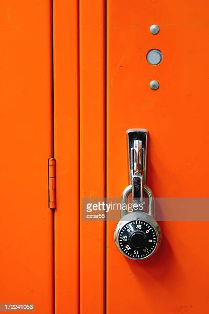 Combination metal Lock & orange Locker