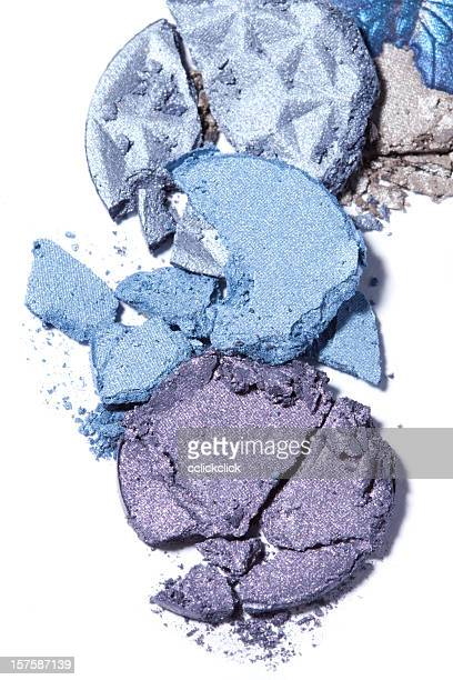 A combination of blue and purple eye shadows