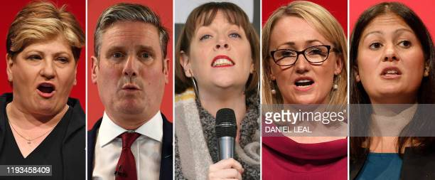 A combination of photographs created in London on January 13 2020 shows the five Labour leadership candidates that have made it through to the second...