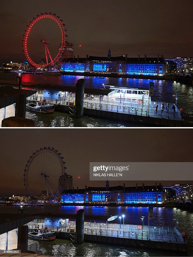 BRITAIN-ENVIRONMENT-ENERGY-EARTH HOUR : News Photo