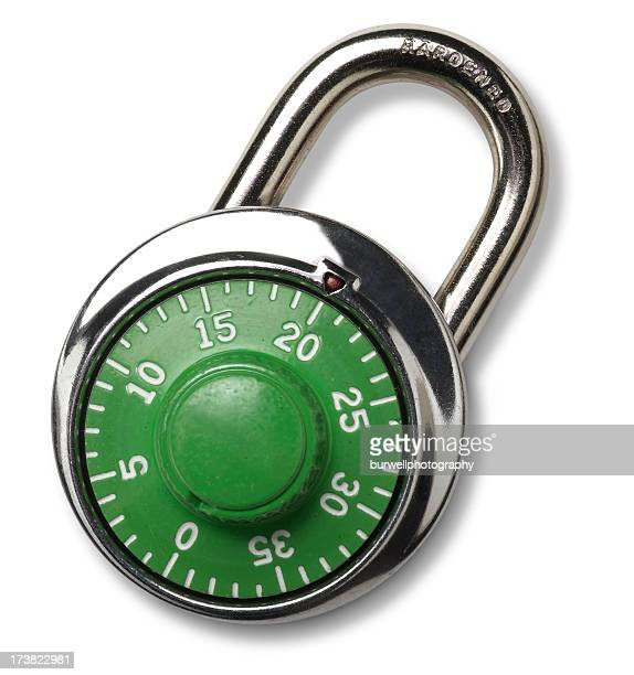Combination Padlock, isolated