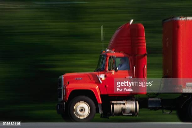 Combination Truck on Highway