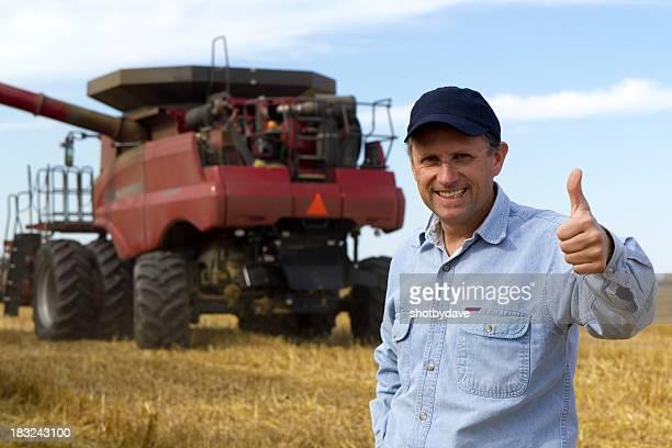 Combine and Farmer