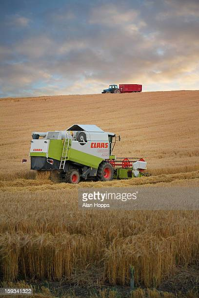 CONTENT] A combine harvester at work near Poyntzpass County Armagh A chaser trailer waits on the skyline to collect grain Taken on 8/8/2012