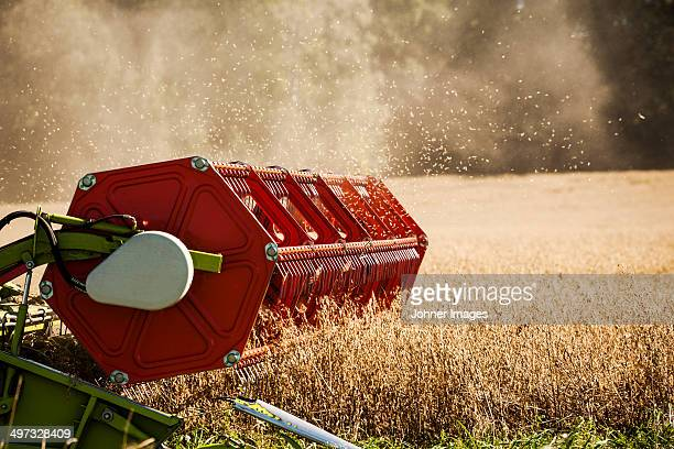 Combine harvester on field, Sweden
