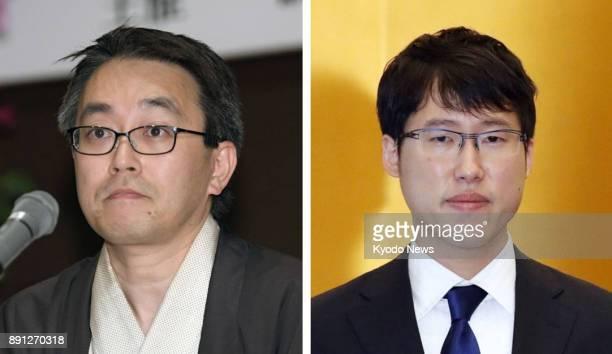 Combined file photo shows Japanese shogi champion Yoshiharu Habu and go champion Yuta Iyama The government said on Dec 13 2017 that it is considering...