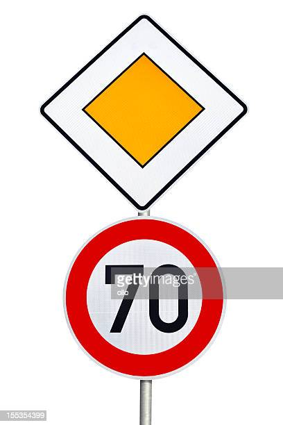 Combined german road sign