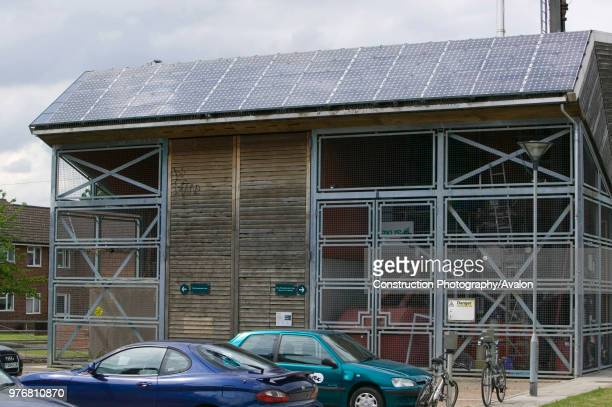 A combined heat and power plant at Bedzed the UK's largest eco village Beddington London UK