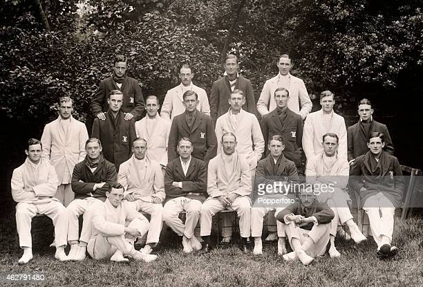 A combined team photograph of the Oxford and Cambridge University cricket teams at Lord's cricket ground prior to the annual Varsity match 5th July...