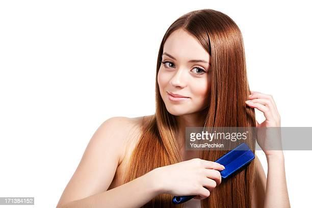 Combing a long hair