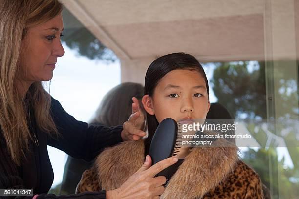 Combing Mother