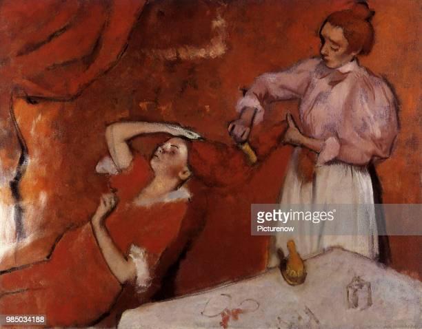 Combing The Hair Degas Edgar