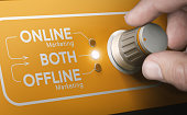 Combining both online and offline in a marketing strategy.