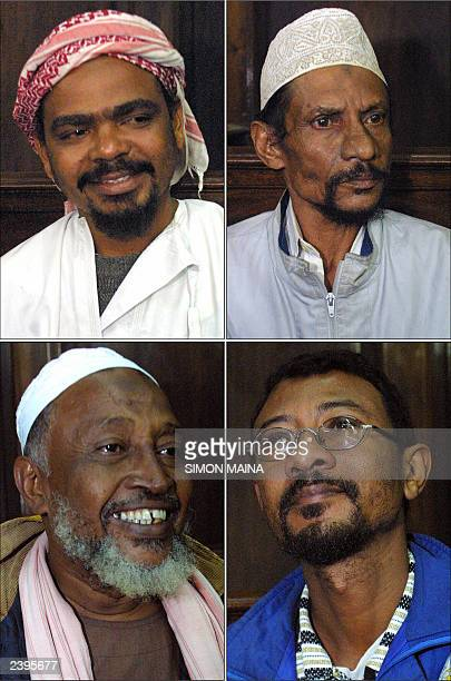 Combo of 4 of the 5 Kenyan suspects charged with murder over last year's suicide bomb attack on an Israeliowned hotel in the Indian Ocean port of...