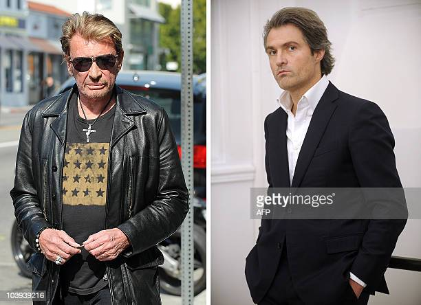 A combo of files pictures shows French rock singer Johnny Hallyday in May 2010 in Los Angeles and French surgeon Stephane Delajoux dubbed the surgeon...