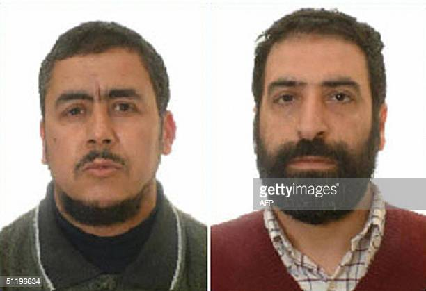 Combo of undated headshots of Algerian Abdelkrim Beghadali 41 and Syrian Safwan Sabagh who were arrested in Spain19 August 2004 in connection with...