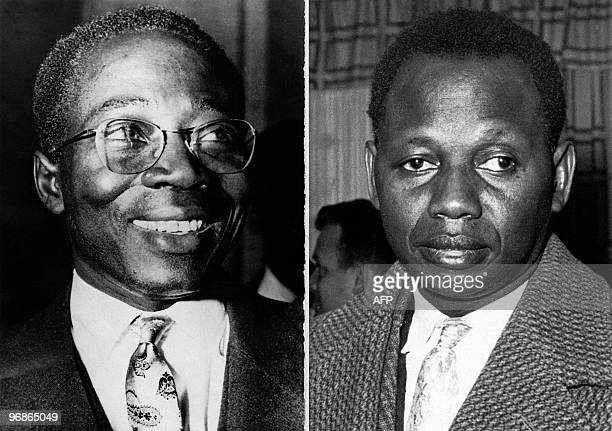 Combo picture released on December 17, 1962 of the two opposed Senegalese leaders: Leopold Sedar Senghor and Mamadou Dia .