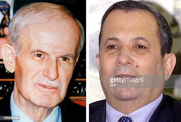 Combo picture shows Syrian President Hafez al-Assad and Israeli Prime Minister elect Ehud Barak. An Israeli newspaper said, 06 June 1999, that Assad...