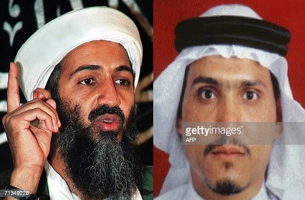 A combo shows AlQaeda leader Osama bin Laden and Abu Hamza alMuhajer who was endorsed by bin Laden as successor to slain Abu Musab alZarqawi as the...