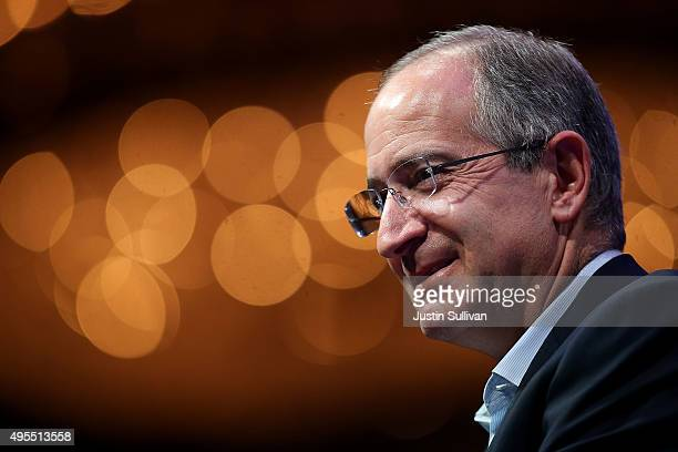 Comcast chairman and CEO Brian L Roberts speaks during the Fortune Global Forum on November 3 2015 in San Francisco California Business leaders are...