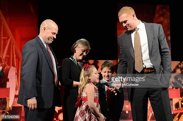 Comcast SportsNet Analyst Brian Scalabrine attends Boston Children's Hospital Champions for Children's with the Savoy family on November 27 2012 in...