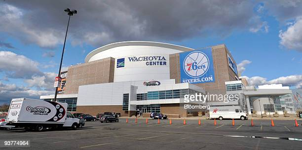 Comcast SportsNet truck is parked outside the Wachovia Center arena, which is owned by Comcast Corp. Subsidiary Comcast Spectacor, in Philadelphia,...