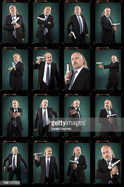 Comdeian Bill Bailey poses for a portrait shoot in London September 8 2010