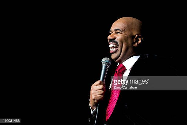 Comdeian Steve Harvey performs at Radio City Music Hall on March 12, 2011 in New York City.
