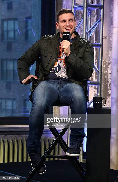 Comdian Chris Distefano attends AOL Build Presents Chris Distefano Benders at AOL Studios on December 15 2015 in New York City