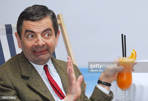 Comdian Rowan Atkinson während eines Pressetermins anlässlich der Präsentation des Films Mr Bean macht Ferien in Berlin