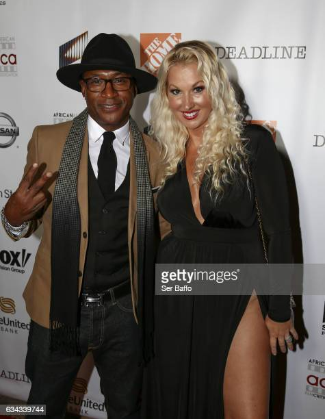 Comdian Tommy Davidson and wife Amanda Moore attend the 8th Annual AAFCA Awards at Taglyan Complex on February 8 2017 in Los Angeles California