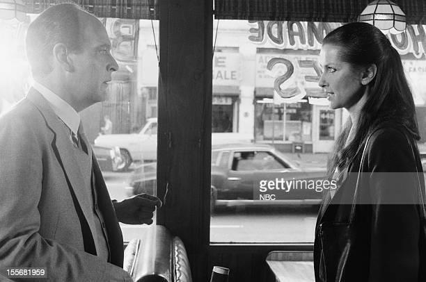 BLUES Come and Get It Episode 622 Pictured Earl Boen as Herb Elman Veronica Hamel as Joyce Davenport