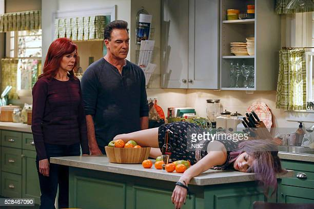 CROWDED 'Come Back' Episode 113 Pictured Carrie Preston as Martina Patrick Warburton as Mike Mia Serafino as Stella