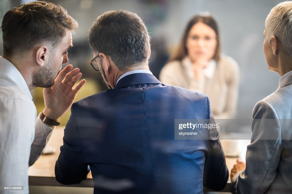 Come closer, what do you think about this candidate? : Stock Photo