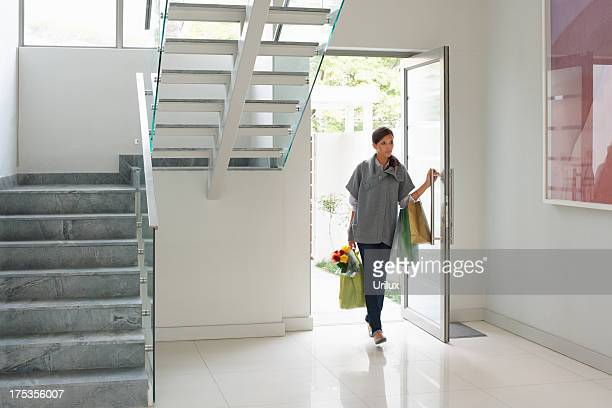 come home to modern elegance - entering stock pictures, royalty-free photos & images