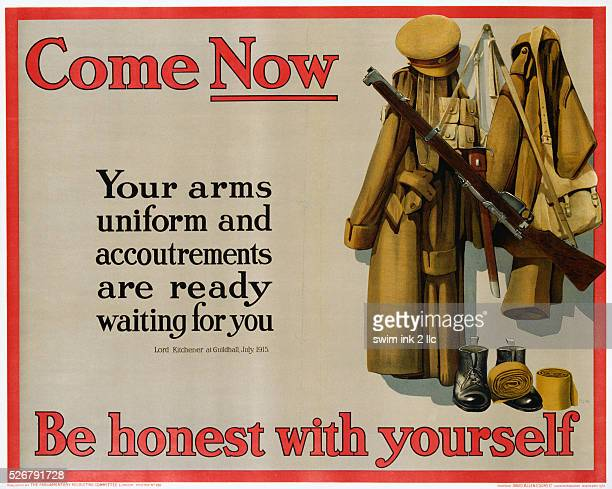 Come Now Be Honest with Yourself World War I Poster