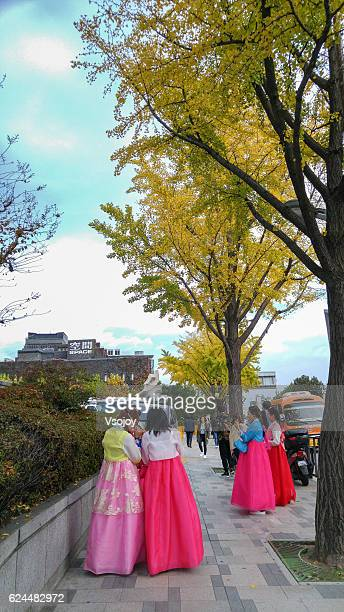 come on korean ladies, its picture time. - vsojoy stock pictures, royalty-free photos & images