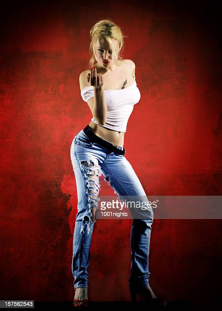 come to me! - tall blonde women stock photos and pictures