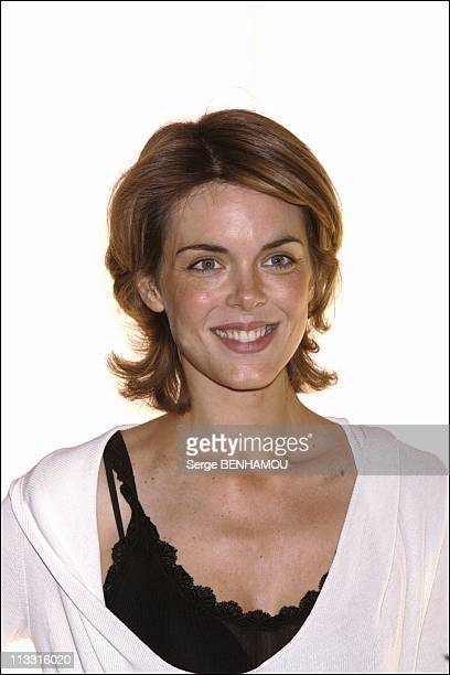Comeback Presse Conference Of Tf1 On August 29Th 2005 In Paris France Here Julie Andrieu